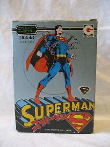 Mib 1979 Vintage Figure Supérieure En Métal Japonais Superman Dc Comics Grip Chogokin