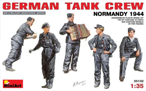 MiniArt 1//35 35132 WWII German Tank Crew Normandy 1944