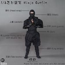 1:6 Scale Reload Action Japan Ninja Outfit - Black Version Set (fit GI Joe)