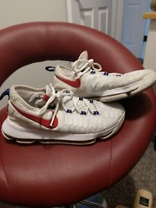 c05748e3cdd1 Nike Zoom KD 9 (GS) USA White Red Navy Kevin Durant Kids Size 6.5Y ...