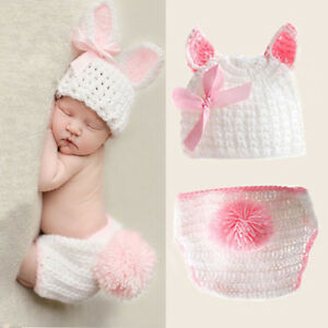 Baby Girls Boys Newborn Crochet Knit Costume Photo Photography Prop Outfits USA