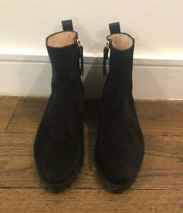Riley black suede ankle boots, Size 7.5