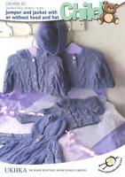 Double Knitting Pattern Baby Items Jumper Jacket Hat Wool 40-66 cm 16-26 inch