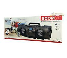 Supersonic SC-2711BT Bluetooth Portable Boombox MP3/CD Player/FM/USB/AUX/Remote