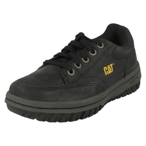 P102006 Great Price! Boys Caterpillar /'Decade/' Black Lace Up Shoes