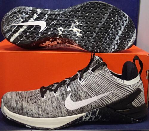 001 Argent Crossfit 924423 Voile Sz Flyknit Oreo Dsx 10 2 Nike Metcon Mat wPgXq7pa8x