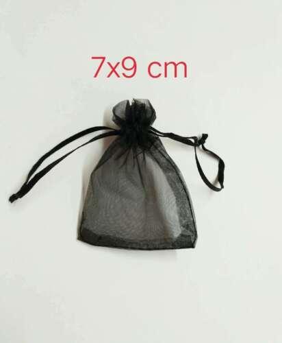 50 pz SACCHETTI  organza 7x9CM per BOMBONIERE porta confetti