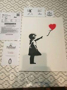 Last-One-Dernier-Banksy-Dismaland-Canvas-original-Spray-Fille-Ballon-rouge