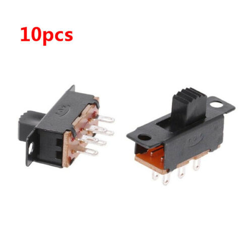 10 Pcs 6 Pins 2 Positions DPDT On//On Mini Slide Switch Home Electrical switch