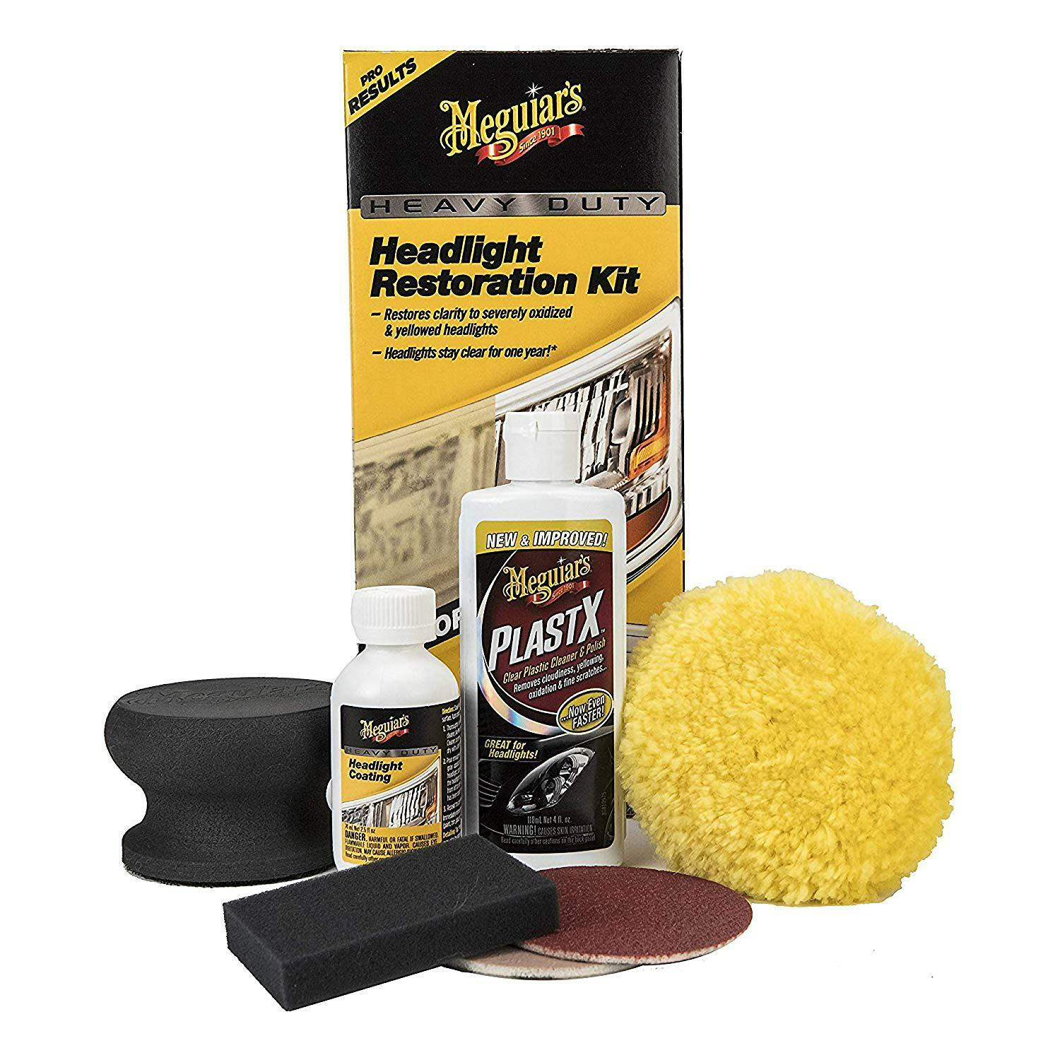 Meguiar's G2980 Heavy Duty Headlight Restoration Kit 12.3 ounces Free Shipping