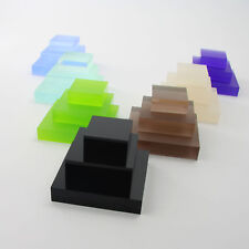 Acrylic Clear & Coloured 20mm Jewellery Display Blocks Retail Art Stall