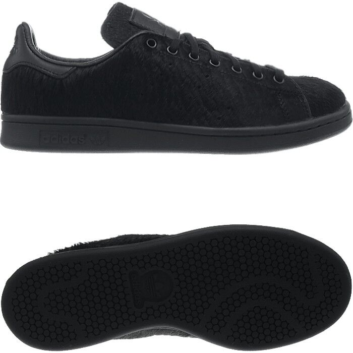 Adidas OC Stan Smith black real Ponyhair  Fur Men's or Women's Collectors shoes