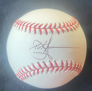 DUSTIN HERMANSON HAND SIGNED AUTOGRAPHED BASEBALL!  Padres, Expos, Giants!!