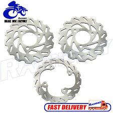 Front & Rear Brake Rotor Disc For Honda TRX400EX Sportrax Fourtrax TRX450X 99-14