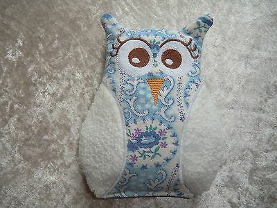 Lavendelkissen Lavendelsäckchen Eule Eulenkissen blau//weiß 17cm Deko  Owl Eulen