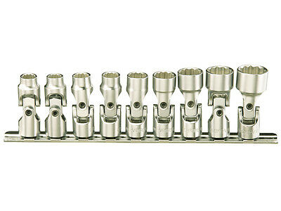 Genius 1//4in Drive 6 Piece SAE Universal Joint Imperial Socket Set US-206S
