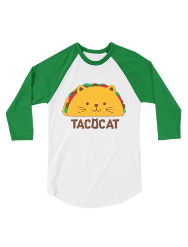 TacoCat Spelled Backwards Is Taco Cat Toddler Raglan 3//4 Sleeve Baseball Tee