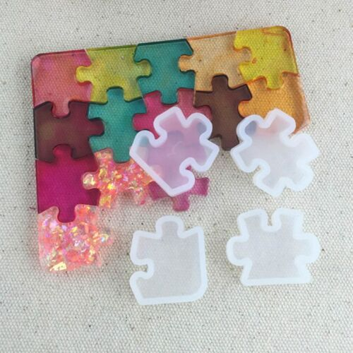 Jigsaw Puzzle Mould Silicone Resin Mold DIY Tool Home Mixed DIY Craft Decor d0y