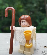 100% Genuine LEGO Customized Minifigure Bible JESUS Minifig w/ Accessories