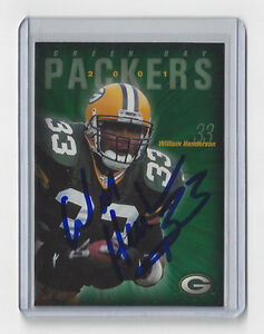 2001-PACKERS-William-Henderson-signed-card-AUTO-Police-7-Autographed-Green-Bay