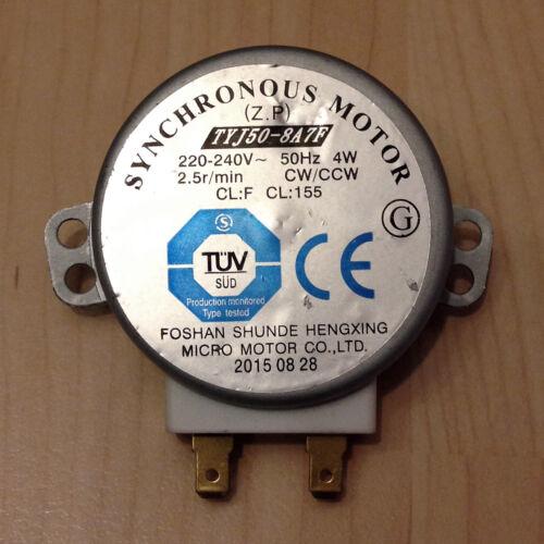 Nouveau micro-ondes plateau synchronous moteur tyj50-8a7f 2,5r//min CW//CCW sharp