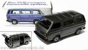 VW-Bus-T3-Schabak-Modell-1-43-Syncro-Caravelle-Grau-Metallic-NEU-OVP