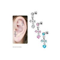 Ribbon With Hanging Orb Cartilage Earring
