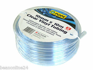 10mm x 10m Clear Vinyl Tubing / Tube / Plastic Hose