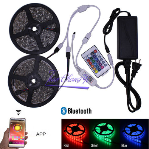 Power supply 12V 5m 10m 5050 RGB LED strip light 12V Bluetooth Controller
