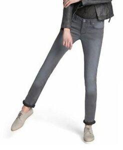 Details zu H.I.S. Damen Stretch Jeans Monroe NEU grau (grey used) Gr.36 und Gr.38