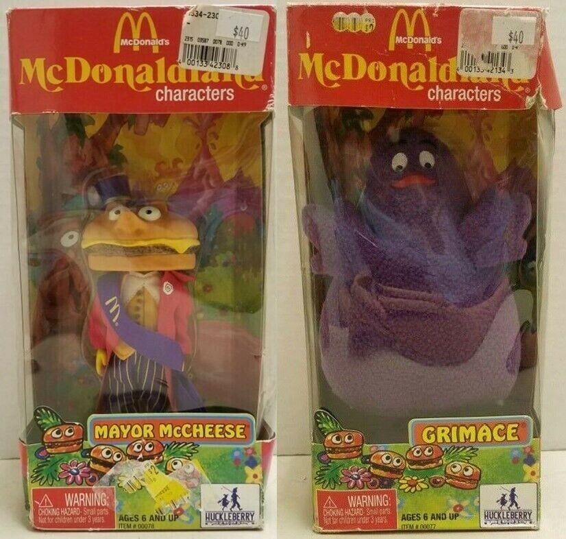 Mcdonald Characters Grimace & Mayor McCheese Set