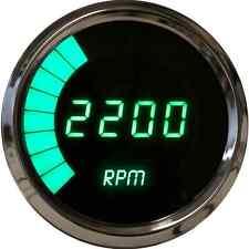 "Intellitronix Digital/Bargraph Memory Tachometer 3 3/8"" Green LEDs Chrome Bezel"