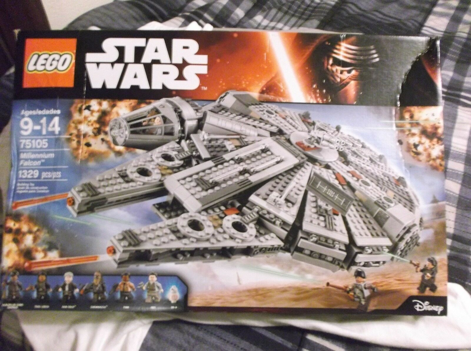 LEGO Star Wars Millennium Falcon Starship 75105 Force Awakens Building Toy Set