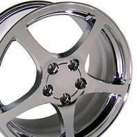 18 Chevrolet Camaro Corvette C5 Replica Wheel Rim 18x9.5 Chrome Hollander 5122