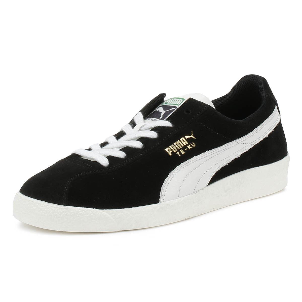 Puma Para Hombres Zapatillas Te-Ku Prime Negro Gamuza Sport Casual Zapatos Con Cordones