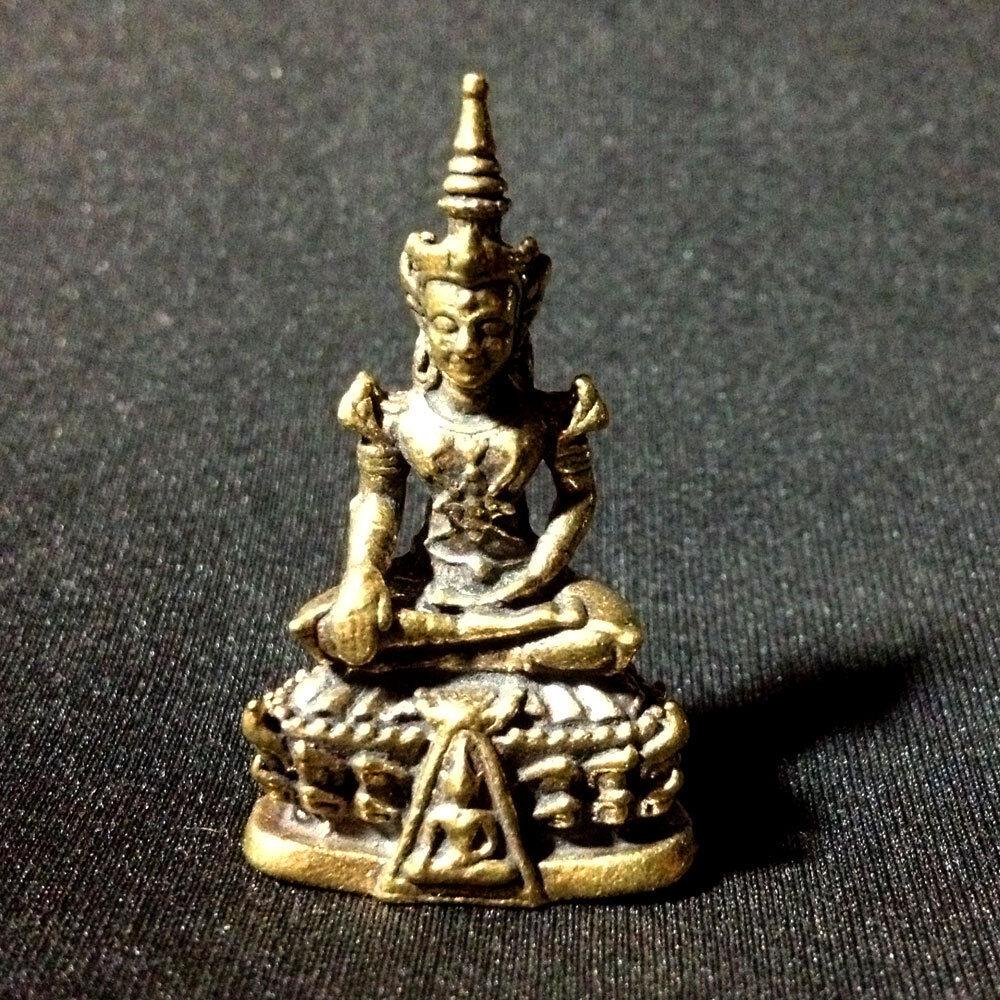 Figurine miniature de bouddha émeraude, amulette thaïlandaise, charme Lucky Protect Rich DBB