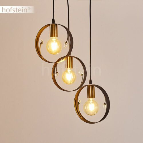 Ess Wohn Schlaf Raum Beleuchtung schwarz-gold Hänge Lampen Retro Pendel Leuchten