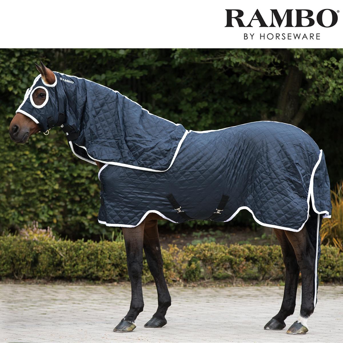 Horseware Rambo Show Set Rug (Navy/Weiß) FREE UK Shipping