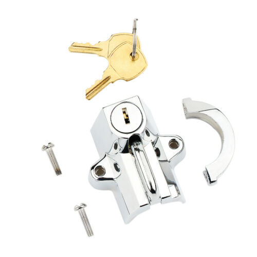Chrome Motorcycle Helmet Lock for Harley Davidson Fatboy Heritage Softail Classi