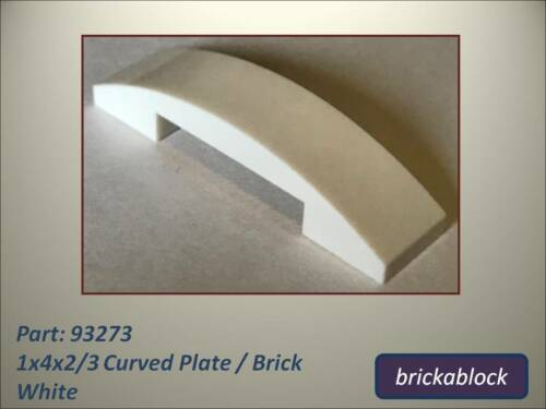 ALL CLS SAME PRICE NEW Lego Part 93273 1x4x2/3 Curved Plate 2,5,10,15,20 or 50