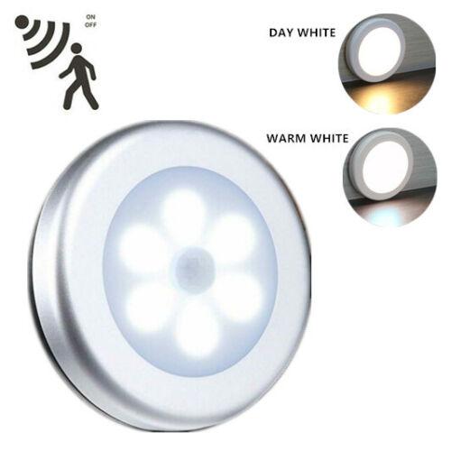 Bright 6 LED Motion Sensor Lights PIR Wireless Night Light Cabinet Stair Lamp