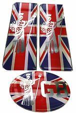 Royal Britannia GB Flag Gel Domed Car Decal Set