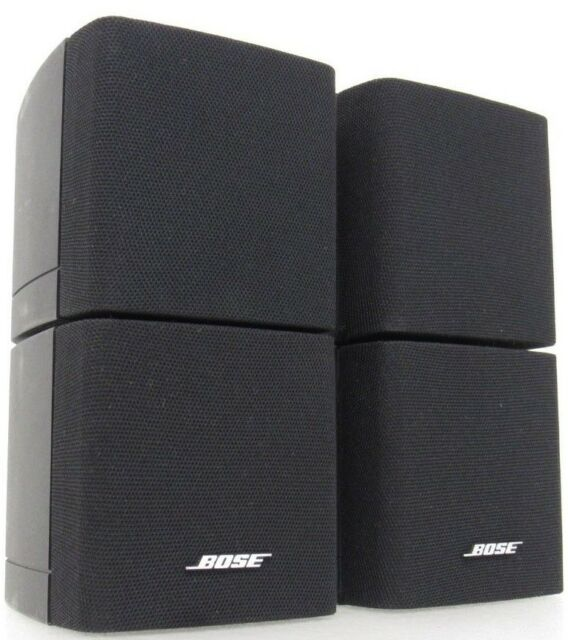 2 Bose Double Cube Speakers Satellite Style Surround Lifestyle Acoustimass
