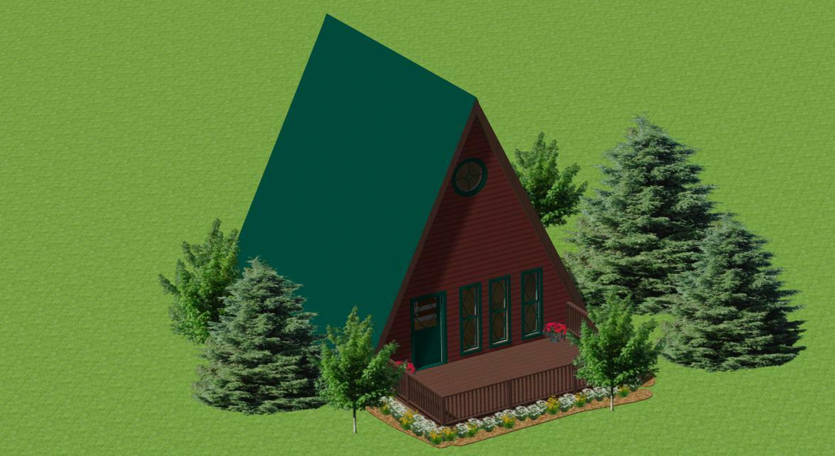 A-Frame Cabin Plans For Recreation, Retirement, Artists, Writers, Camping
