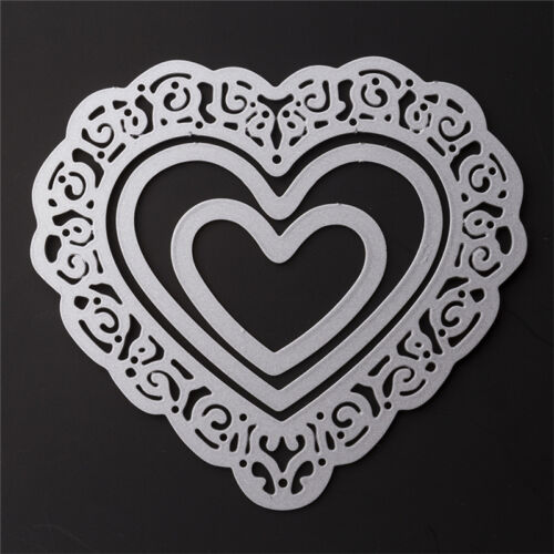 Heart Lot Cutting Dies Stencil Scrapbooking Album Paper Card Embossing Cr ttkk