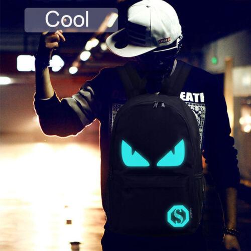 Latest Backpack Luminous Shoulder Bag Black Schoolbag for Students Youth Travel