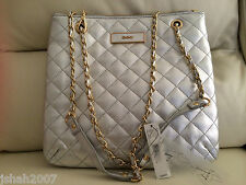 DKNY Silver Womens Quilted Hand Bag BRAND NEW WITH TAGS **LOOK**