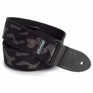 Dunlop-D38-10GY-2in-Classic-nylon-guitar-strap-Camo-Cammo-Grey