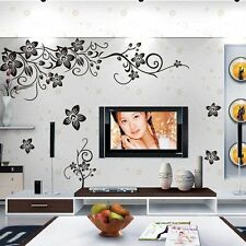 Removable Vinyl Flower Vine Wall Sticker Wall Decal Mural Art Home Decor US