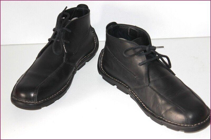 KICKERS botas à Lacets Hombre TTBE Cuir Noir T 41 TTBE Hombre ab7f6f
